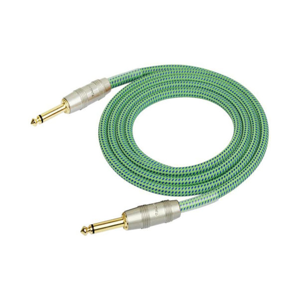Kirlin 3m Woven Instrument Cable Green