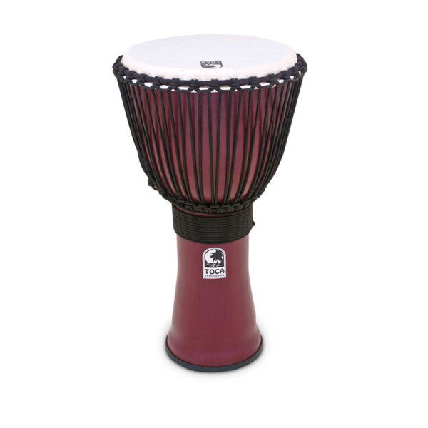 Toca Freestyle II Ropetuned Djembe Red