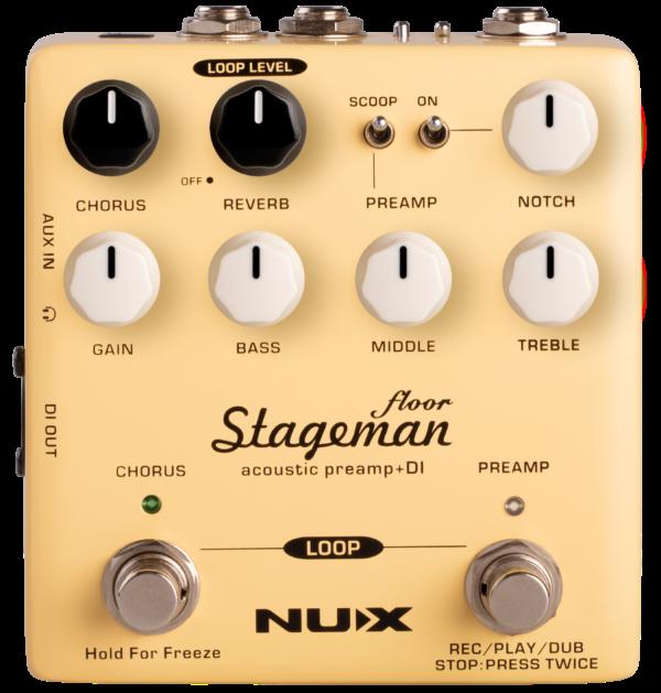 NUX Stageman Floor – Acoustic Preamp...